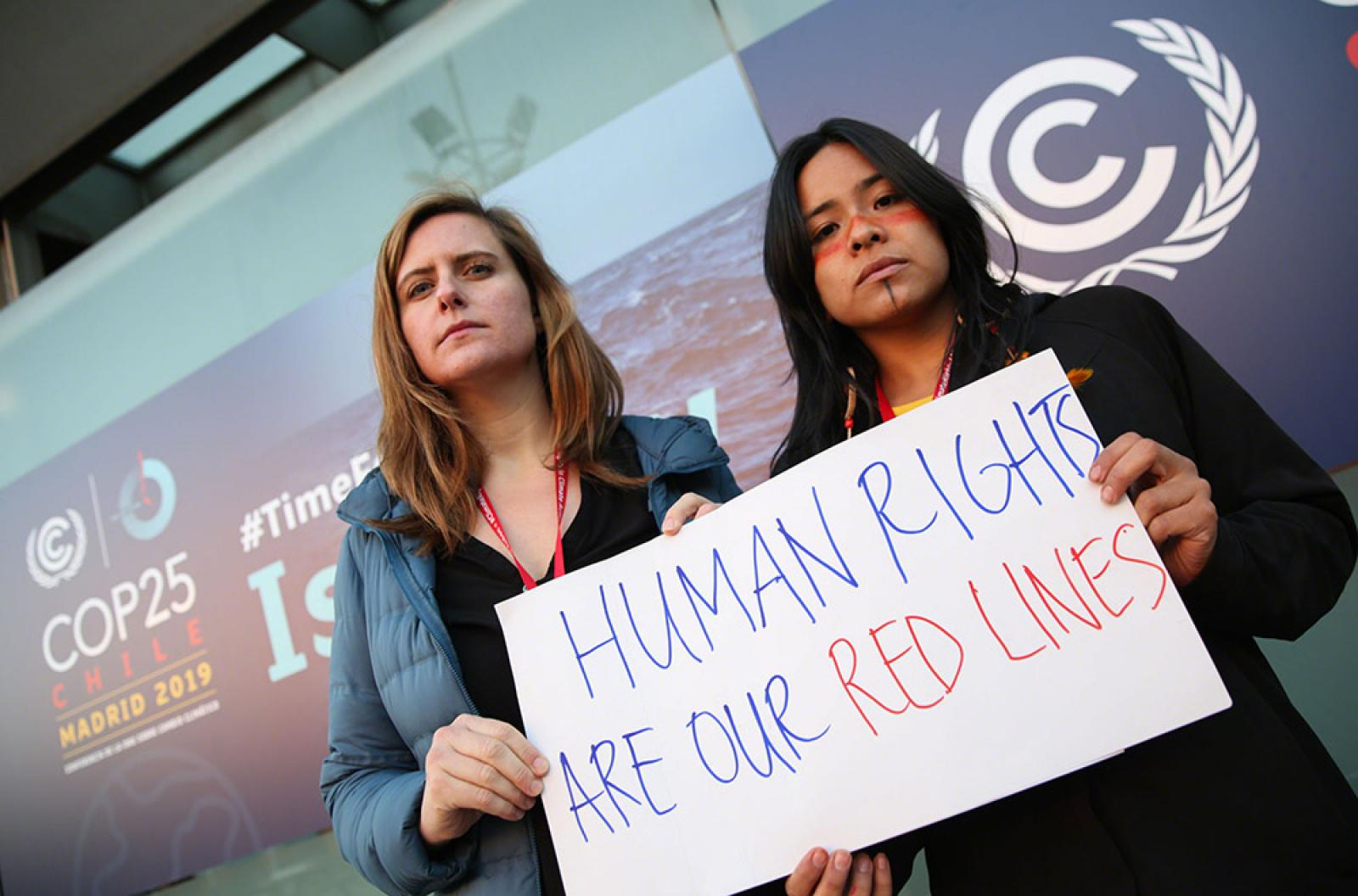 Human rights watered-down at COP25