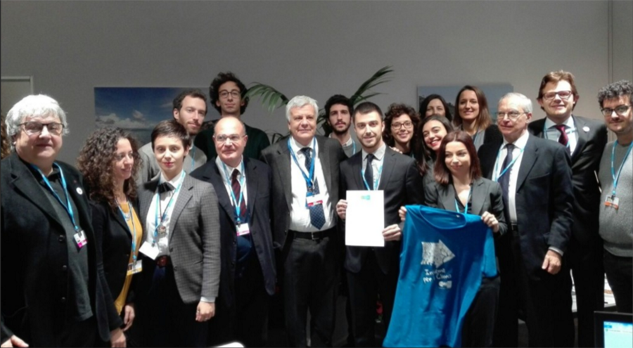 UNFCCC COP21 Paris Galletti, Minister of the Environment for Italy supports the Intergenerational Equity principle